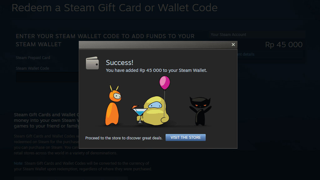 perbandingan steam wallet